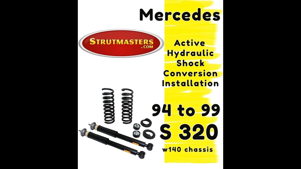 How To Fix The Rear Suspension On A Mercedes S320 Youtube