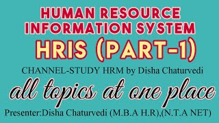 This video describes the concept and use of human resource information system.different subsystems/modules hris. -----------------------------------------...