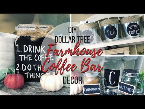 DIY DOLLAR TREE FARMHOUSE COFFE BAR DECOR