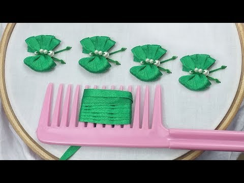 How to make butterfly easily by using ribbon/easy butterfly making trick
