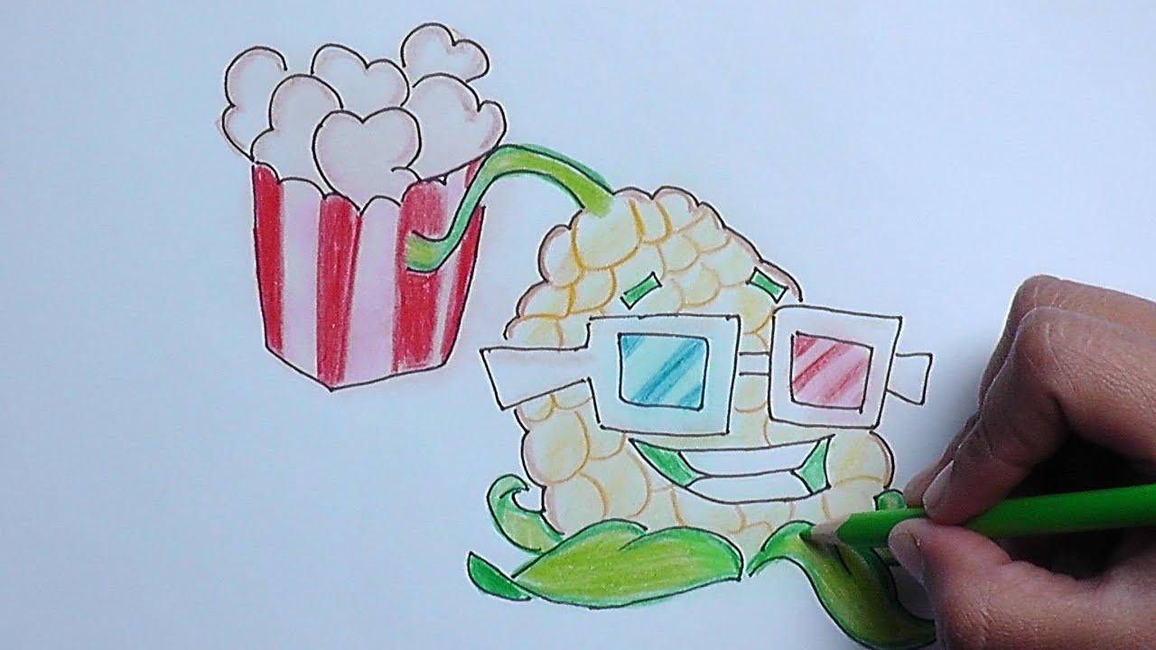 Como Dibujar A Un Pomelo De Pvz: Como Dibujar A Lanzapalomitas (Plantas Vs Zombies)