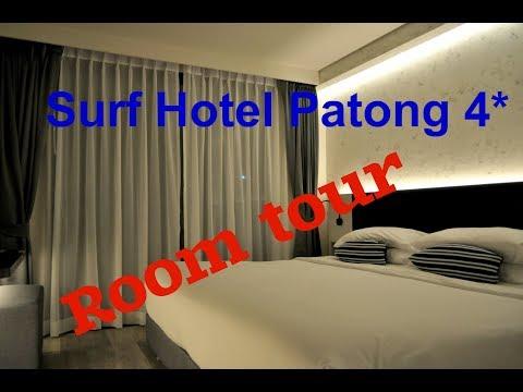 Room tour  Hotel Clover Patong Phuket (SURF HOTEL PATONG) . Пхукет.