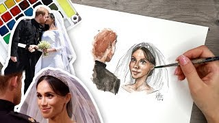 DRAWING the Royal Wedding! Meghan Markle & Prince Harry