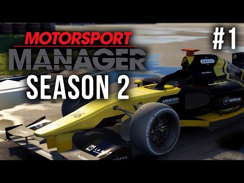 Motorsport Manager Season 2 Gameplay Walkthrough Part 1 - BUILDING A CAR (ASIA PACIFIC SUPER CUP)