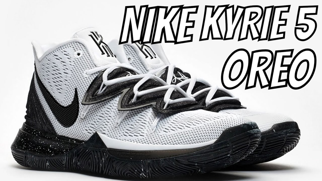 f9d330cd9f86 KYRIE IRVING S NIKE KYRIE 5  OREO  SNEAKER REVIEW + ON FEET - YouTube