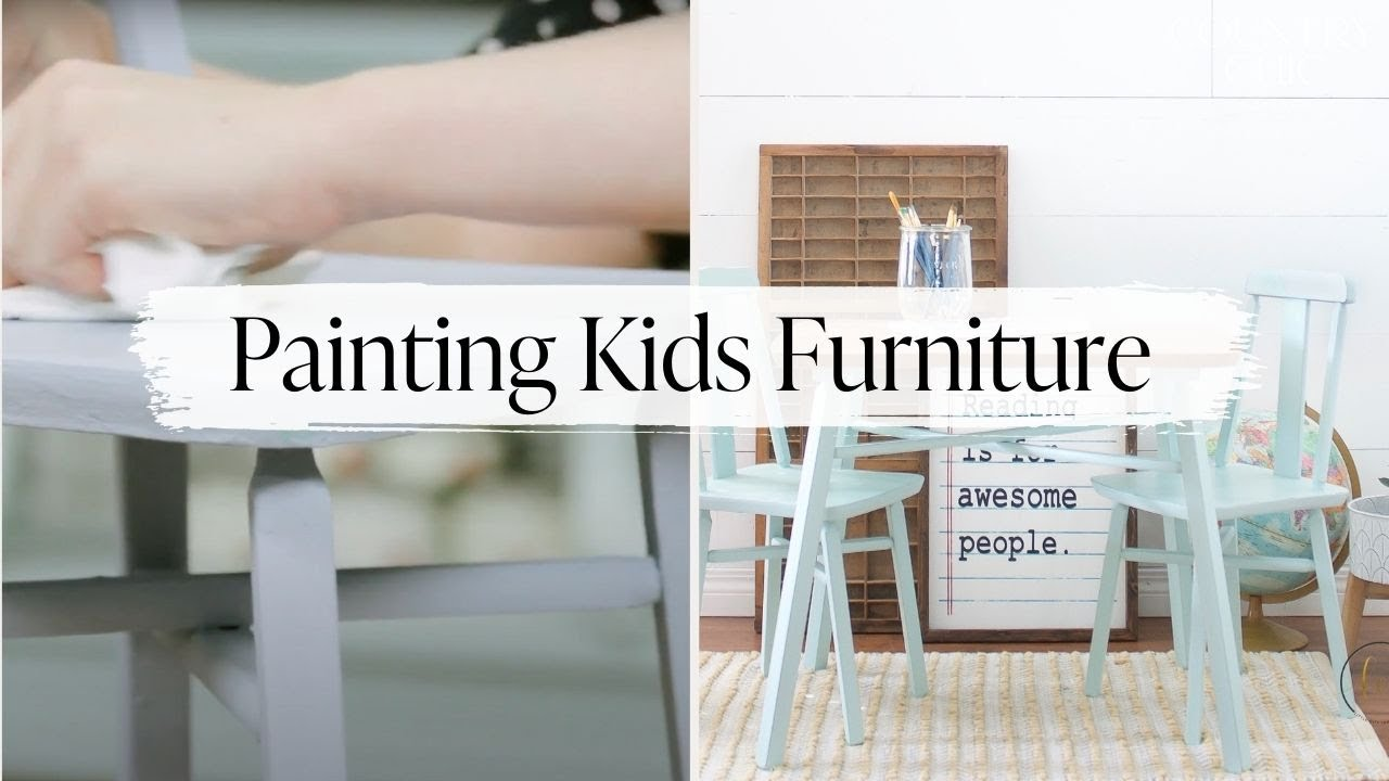How to Restore Children's Furniture with VOC Free Paint   Choosing Safe Paint Products for Kids