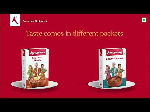 Taste Comes In Different Packets   Annapoorna Masalas & Spices
