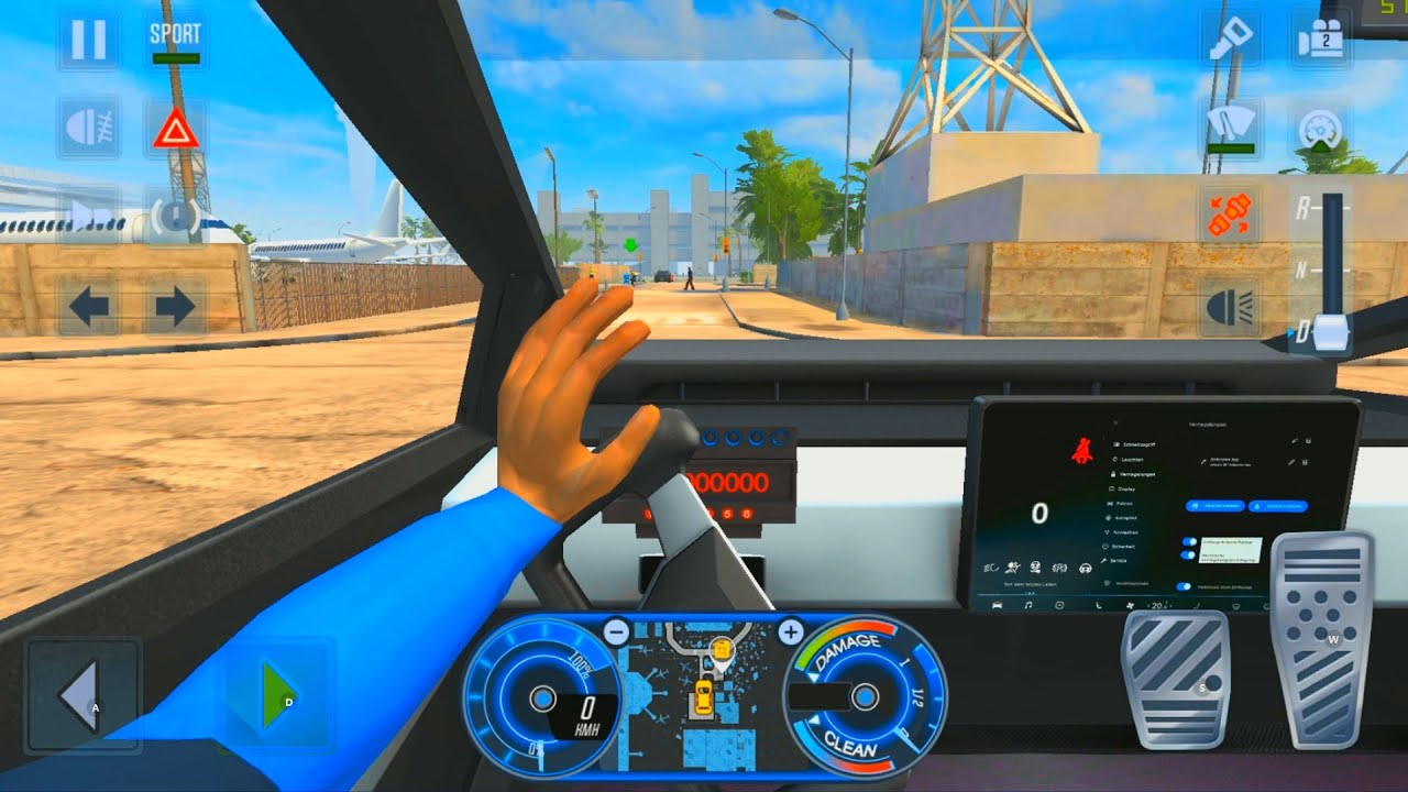 CYBERTRUCK CAR CAB DRIVER - City Car Driving Games Android iOS - Taxi Sim 2020 Gameplay