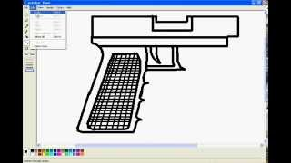 Ms Paint-Speed drawing of a Glock 18 (G18)