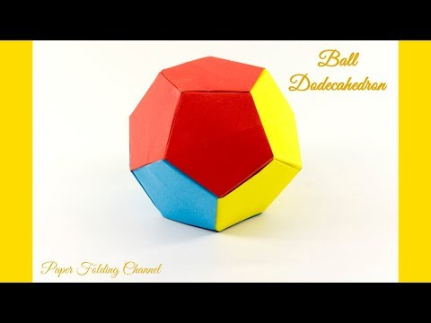 How To: Origami Soccer Ball Size 2 (Black-White) - Published on ... | 360x480