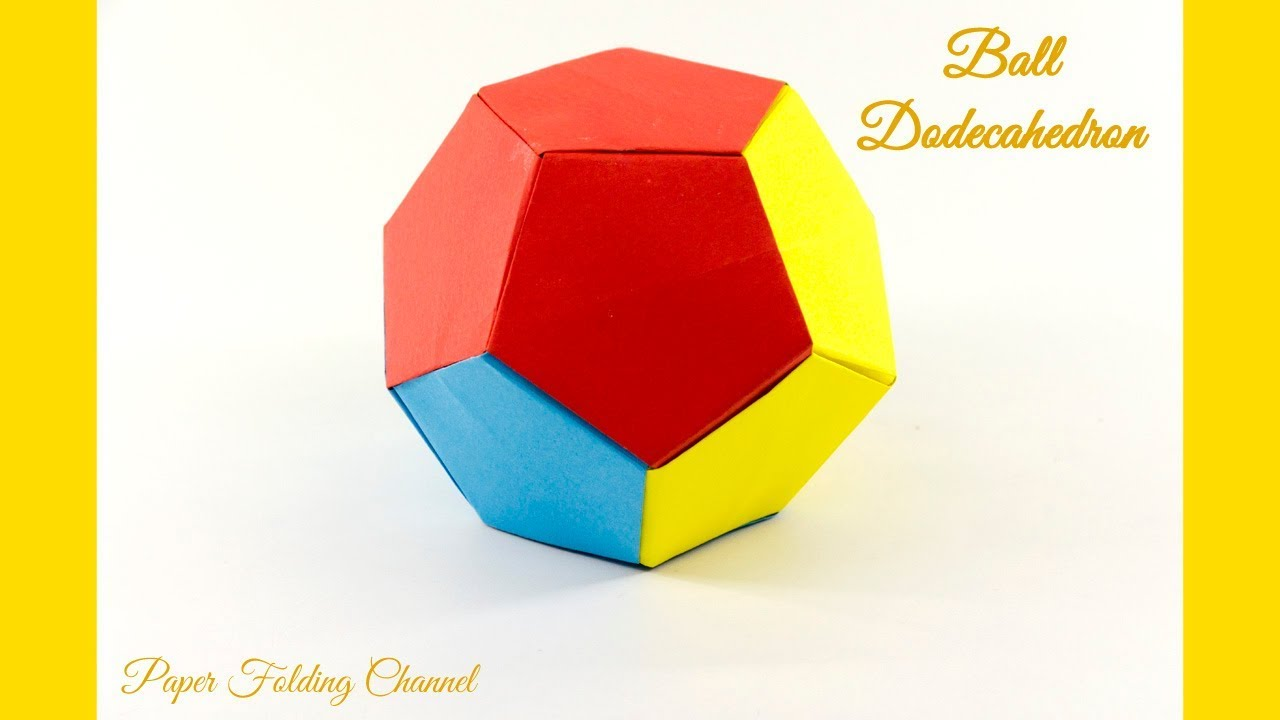 Origami Ball Dodecahedron Youtube