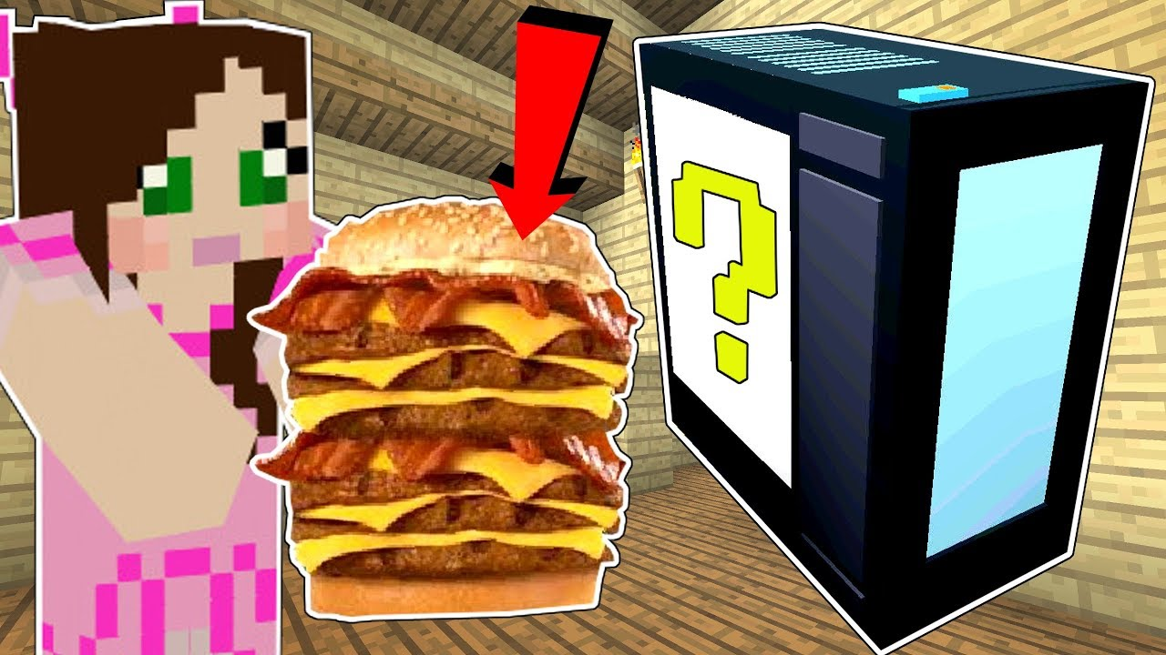 Minecraft: COMPUTER LUCKY BLOCK!!! (INTERNET, BIG BURGERS, & MORE!) Mod Showcase