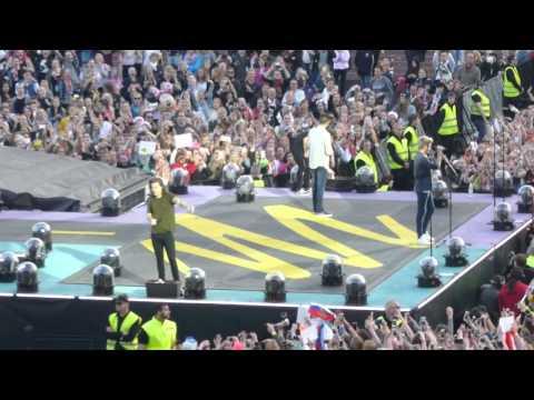 One Direction - Steal My Girl + Harry talking in Helsinki 27.6.2015 | OTRA Tour