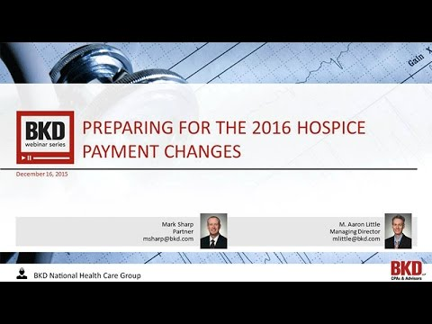 Preparing for the 2016 Hospice Payment Changes