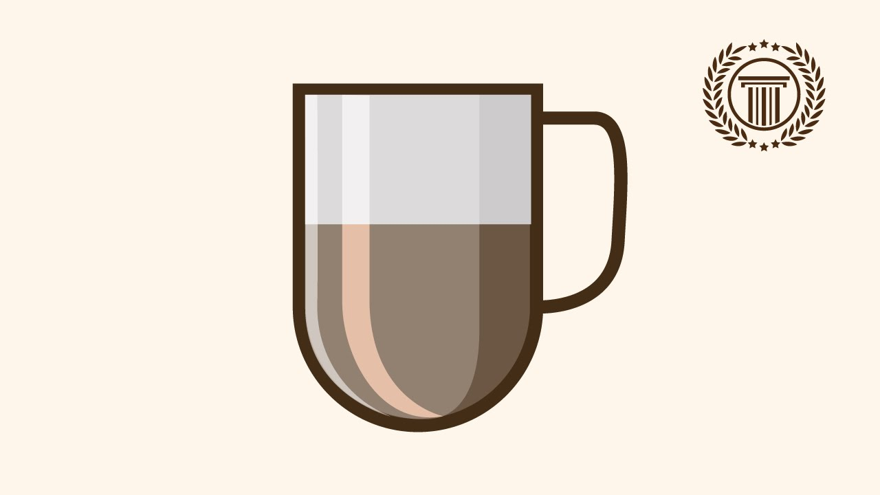 modern coffee cup logo design illustrator | how to make ...