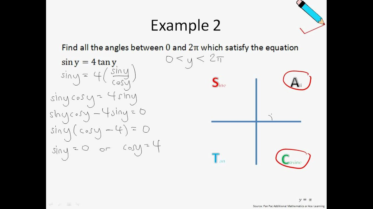 A Maths Chap 12.2 Further Trigonometric Equations