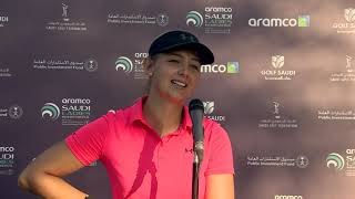 Emily Kristine Pedersen Interview Round 1   Aramco Saudi Ladies International