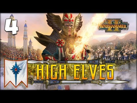 FACING THE PHOENIX GUARD! Total War: Warhammer 2 - High Elves Campaign - Tyrion #4