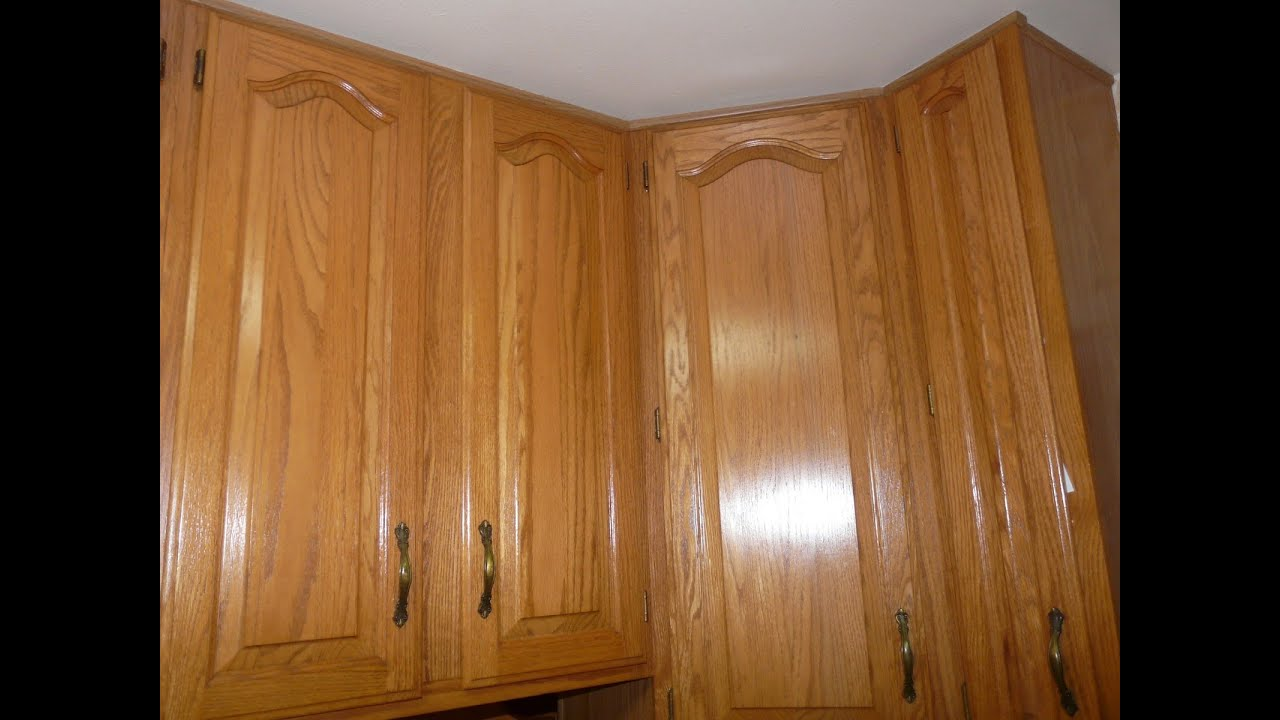 Red Oak Kitchen Cabinets Places To Buy Tables Using Teak Oil Freshen Bathroom And ...