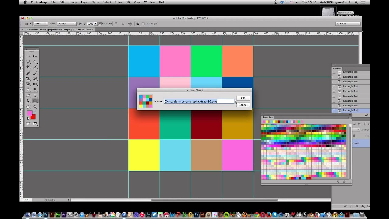 How To Create Square Photoshop Grid Of Random Color Fills Tutorial