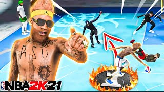 *NEW* LEGEND ANKLE BREAKING PAINT BEAST IN NBA 2K21 IS OVERPOWERED.. (BEST CENTER BUILD)
