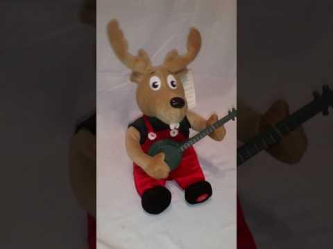 Dueling banjos singing animated musical reindeer Christmas