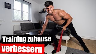 Damit verbesserst du dein Fitnesstraining zu Hause!