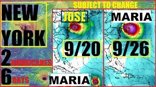 *NEW YORK* Double Landfall Hurricane JOSE and MARIA Just 6 DAYS APART 20th-26th