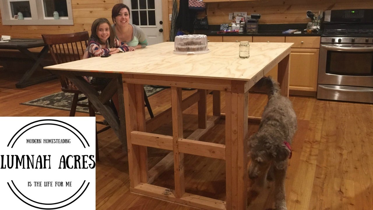 Kitchen Island Build Part YouTube - How to build a kitchen island with seating