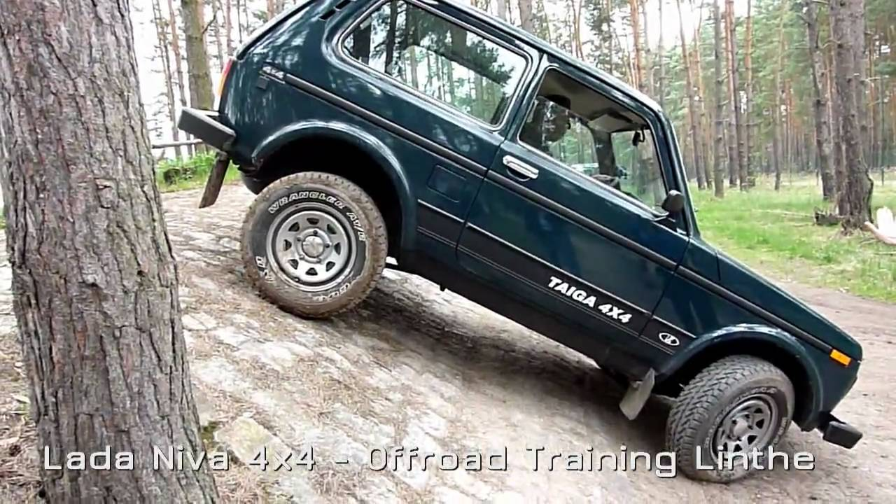 lada niva 4x4 offroad training beim adac in linthe youtube. Black Bedroom Furniture Sets. Home Design Ideas