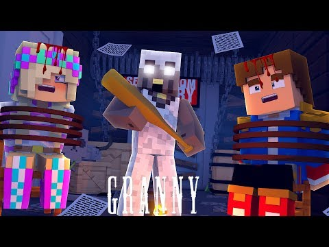 Minecraft GRANNY #1 PRISONERS IN LEAH'S SCARY GRANNY HOUSE!!