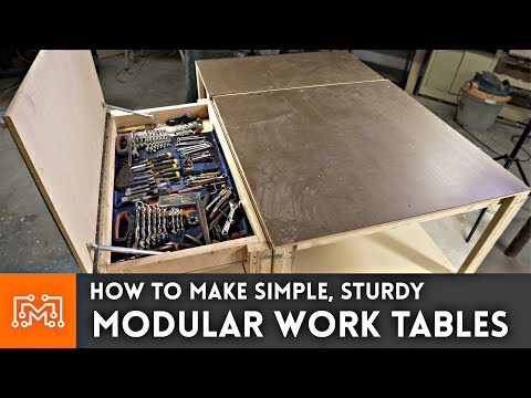 Simple Modular Work Tables (WITH MAGNETS!) // Woodworking just how To