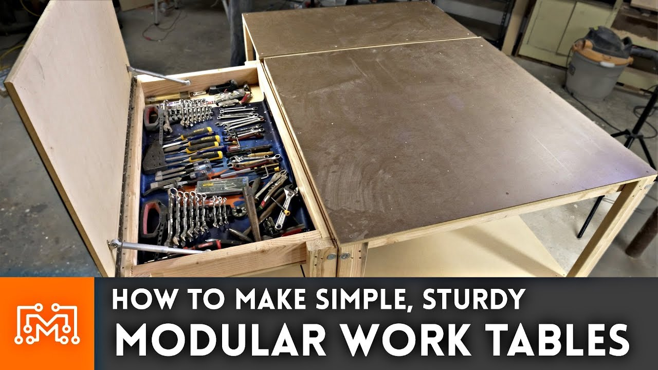Simple Modular Work Tables With Magnets Woodworking