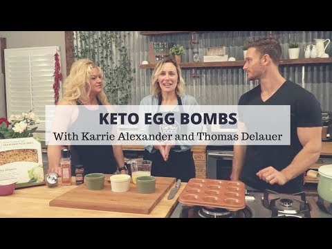 Egg Bombs Using Cauliflower Pizza Crusts