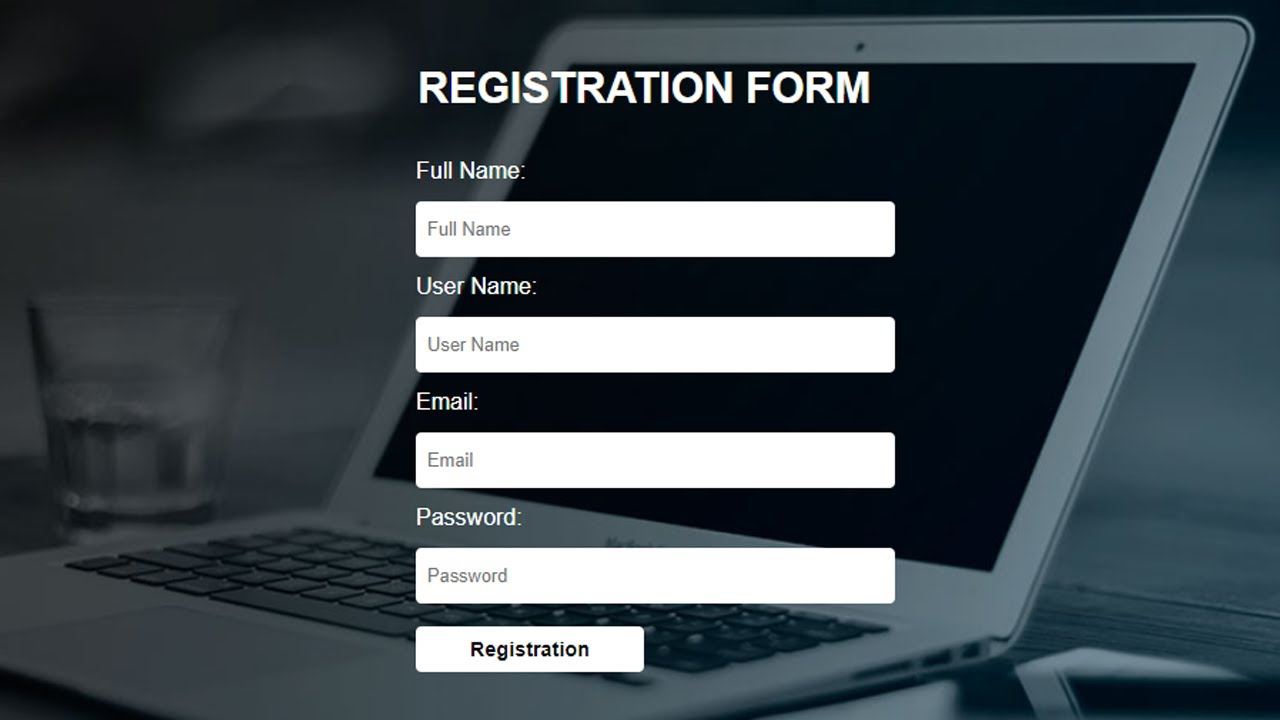How to Create Simple Registration Form using only HTML and CSS