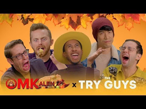 Kalen and The Try Guys Try and React to Classic 'OMKalen' Dishes for Thanksgiving