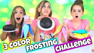 3 Colors of Frosting Piping Bag Challenge!