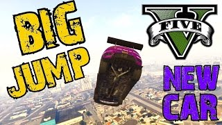 GTA 5 - BIG JUMP ! New race car test