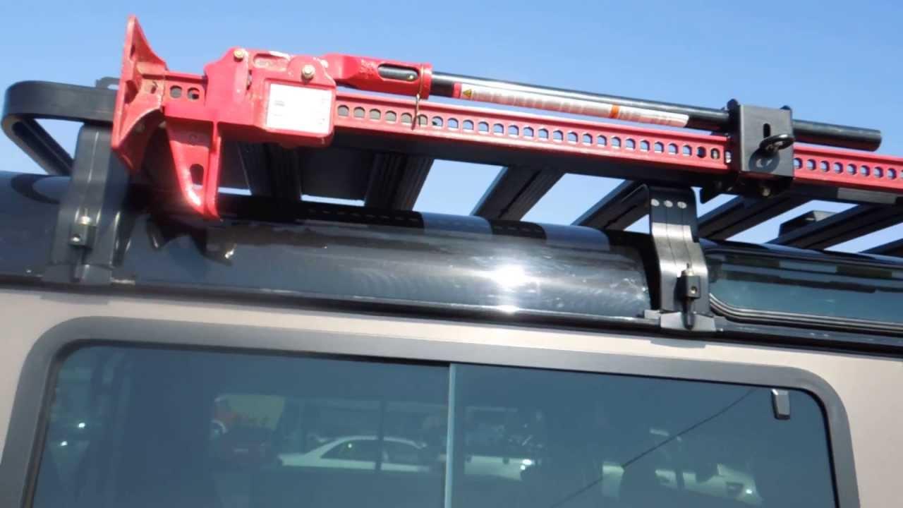 Land Rover Defender High Lift Jack Bracket On Roof Rack