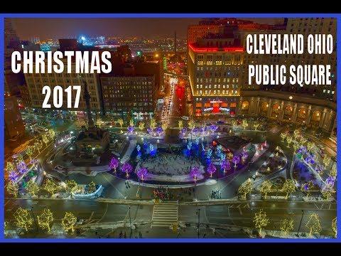 Cleveland Ohio Public Square Christmas 2017