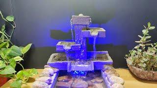 How to make amazing beautifui wonderful waterfall fountain water fountain