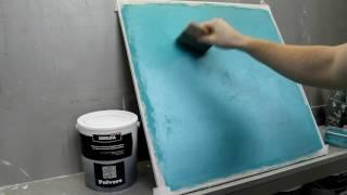 Как наносить декоративный песок Polvere (Tempesta) Урок 1 самая простая декоративная штукатурка!