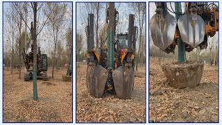 Good People Use 2nd hand excavator to rescue trees - Today shoot what you like, old iron friends