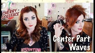 Easy Vintage Inspired Hair: Off Center Wand Curls by CHERRY DOLLFACE Thumbnail