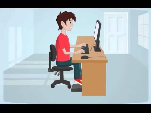 איך לשבת נכון מול מחשב?