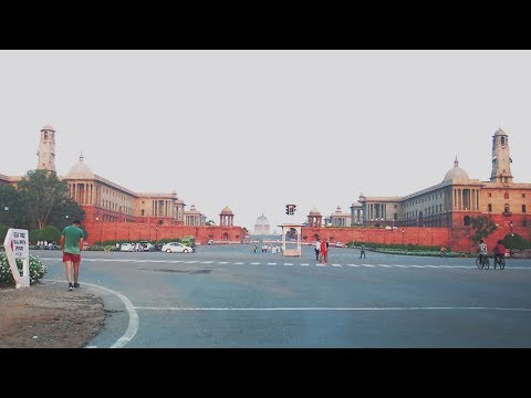 Driving Around Central Secretariat (Rashtrapati Bhavan & Par