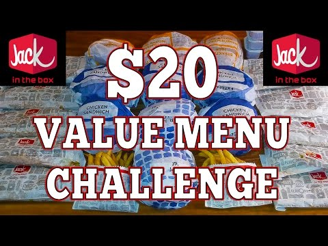 Jack in the Box Value Menu Challenge with Randy Santel!