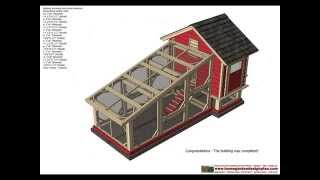 S110 - Chicken Coop Plans Construction - Chicken Coop Design - How To Build A Chicken Coop