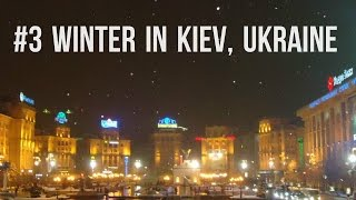 Extremely cold on Maidan Square in Kyiv - Киïв (2012)