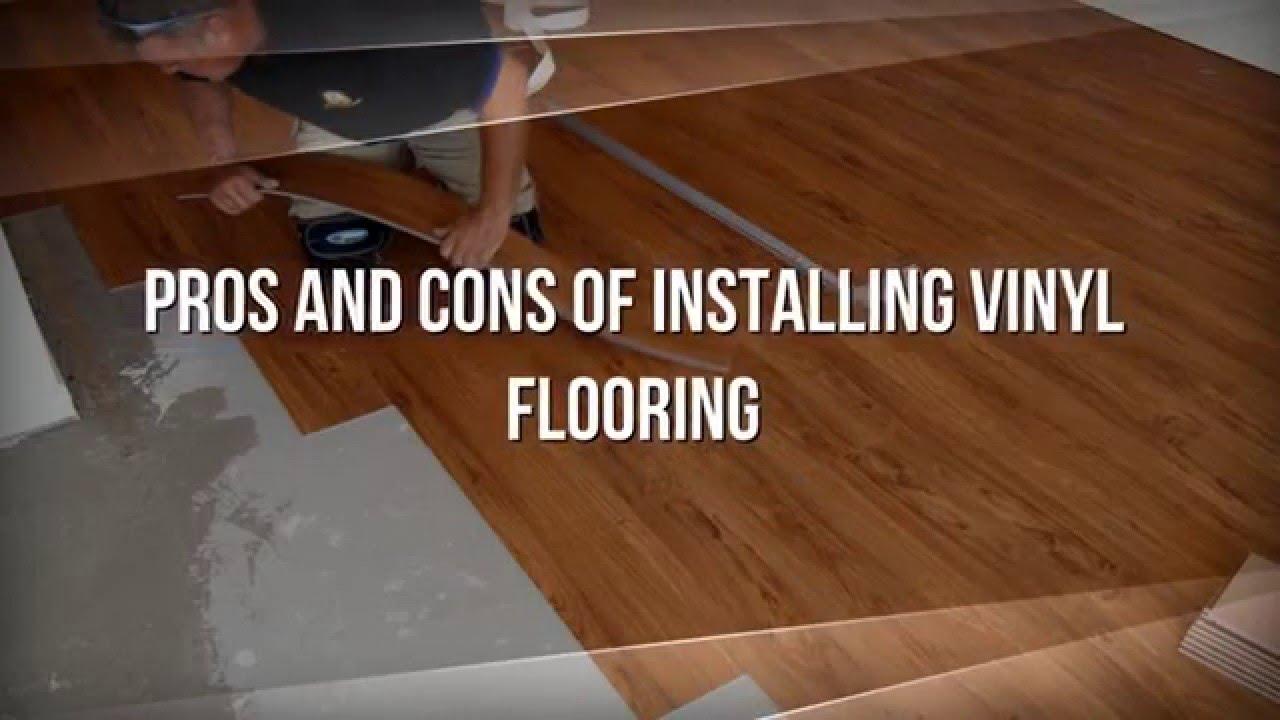 vinyl flooring Pros and Cons of Installing Vinyl Flooring  YouTube